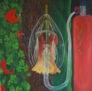 """Breath, Size: 72"""" X 48"""", Oil on Canvas"""